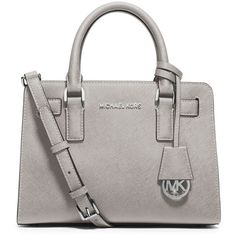 Michael Kors Small Saffiano Heather Grey Satchel Bag Handbag NWT ...