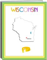 Thematic Unit - Wisconsin- Each state thematic unit is 13 pages. They offer information about the following: history, Capital, flag, tree, bird, flower, size, location, climate, topography, industry, natural resources, waterways  The following pages are also included: questions, word unscramble, spelling, state map, add your own information, answers