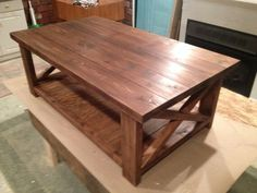 Etsy rustic wooden coffee table