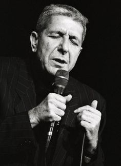 Photo of Leonard COHEN performing live onstage at Congresgebouw