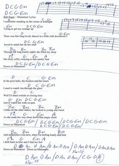 Bob Seger And The Silver Bullet Band - Turn The Page (Chords)