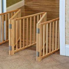 Free Standing Wood Pet Gate used in smaller doorway