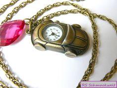 Kettenuhren - Kettenuhr, Cabrio, Uhr, Quarz, Bronze, Pink - ein Designerstück von RS_Schmuckwelt bei DaWanda http://de.dawanda.com/product/63017123-Kettenuhr-Cabrio-Uhr-Quarz-Bronze-Pink
