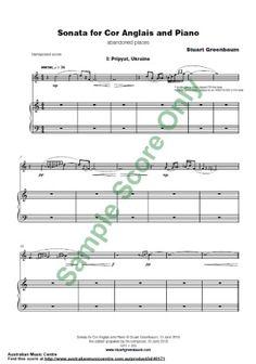 SONATA for Cor Anglais & Piano Clarinet Sheet Music, Piano Sheet Music, Ross Island, Oboe, Music Online, Piece Of Music, Piano Music, Piano Music Notes