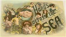 "Women's Solidarity ""Hands Across The Sea"" 1913 Vintage Postcard"