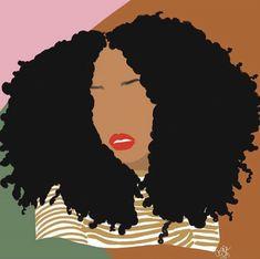 Black Girl Art, Black Women Art, Art Girl, Magic Background, Black Art Painting, Dibujos Cute, Goddess Art, Afro Art, Dope Art