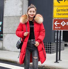 Women Thick Faux Fur Trim Warm Cotton Jacket Black Brick, Down Coat, Cotton Jacket, Fur Collars, All Fashion, Fur Trim, Red Green, Canada Goose Jackets, Wool Blend