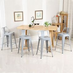 "Belleze 30"" Bar Stool Finish: Silver"