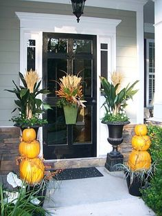 fall decorating/fall outdoor decorating ideas