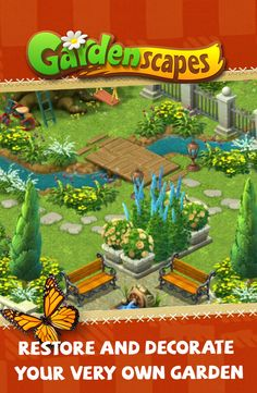 Beat match-3 levels to restore and decorate the garden