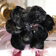 Theme of the week (13-19.6.16) Weddings: Black Velvet Corsage, with pink velvet ties. £65.