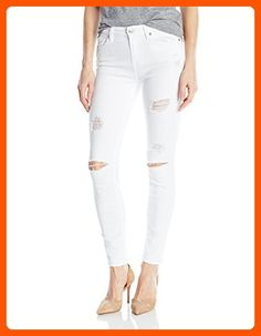 7 For All Mankind Women's the Ankle Skinny with Destroy, Clean White 3, 24 - All about women (*Amazon Partner-Link)