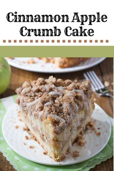 CINNAMON APPLE CRUMB CAKE It is safe to say that you are prepared for fall heating Cinnamon Apple Crumb Cake is the ideal sweet for fresh climate coming up much the same. Cinnamon Cake, Cinnamon Apples, Caramel Apples, Cinnamon Rolls, Apple Cake Recipes, Apple Desserts, Dessert Recipes, Chocolate Desserts, Dessert Ideas