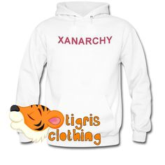This Xanarchy Hoodie from tigrisclothing.com is using DTG Technology to print, we print Xanarchy Hoodie one by one so we can control the quality.