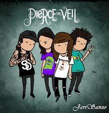 Banda: Pierce the veil, genero post-hardcore buena banda para escuchar de vez en cuando.