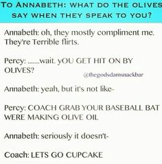Percy is jealous, because of olives. Let's make some olive oil with a baseball bat! xD #OverprotectiveParenting