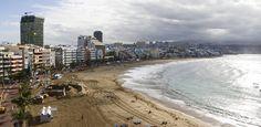 Las Palmasissa rantaloma ja kaupungin syke yhdistyvät. #LasPalmas #GranCanaria
