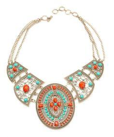 Amrita Singh Napeague Bib In Coral Jewelry $93
