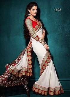 New Traditional Partywear Sari Wedding Indian Bollywood Saree Designer R1502