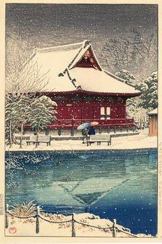 Snow at Shinobazu Benten Shrine