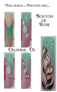 By Delphine DS Fancy Nail Art, Cool Nail Art, Diy Nails, Cute Nails, One Stroke Nails, Nail Art Techniques, Nails First, Nail Candy, Beautiful Nail Designs