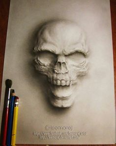 this would make a cool tattoo for someone...WOW! skull shading