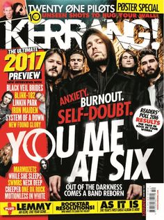 In this issue of Kerrang! The ultimate 2017 preview, new interviews with Black Veil Brides, Blink-182, Linkin Park, Iron Maiden & more.    Readers' poll 2016 Results.    Twenty One Pilots Poster Special