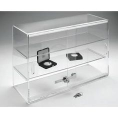Acrylic Display Case with Locking Double Doors