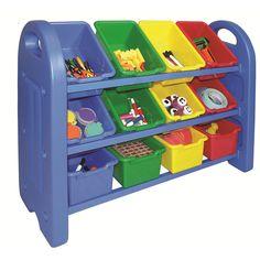 "3-Tier 12 Bin Toy Storage Organizer - Early Childhood Resources - Toys ""R"" Us"