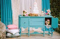 Beautiful painted furniture.