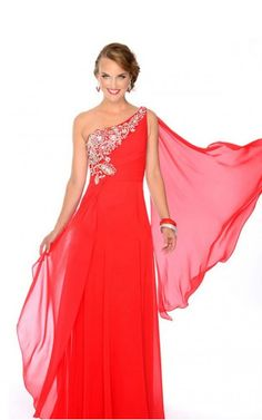 Prom Dresses One Shoulder Beaded Neckline Princess Floor Length Passionate Red Chiffon Prom Dress , You will find many long prom dresses and gowns from the top formal dress designers and all the dresses are custom made with high quality Red Formal Dresses, Prom Dresses 2016, Prom Dresses Online, Cheap Prom Dresses, Formal Evening Dresses, Bridal Dresses, Dress Prom, Dresses Dresses, Pageant Dresses