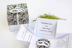 Pop Up Wedding Invitations  Unique Invitations  Elegant