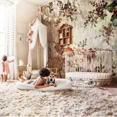 """"" This magical nursery room is like a fairytale come true! Swipe 👉🏻 for more… """" This magical nursery room is like a fairytale come true! Swipe 👉🏻 for more lovely details! ㅤ Photo + deco – """" Baby Bedroom, Baby Room Decor, Nursery Room, Girl Nursery, Girls Bedroom, Nursery Decor, Nursery Ideas, Whimsical Nursery, Budget Nursery"