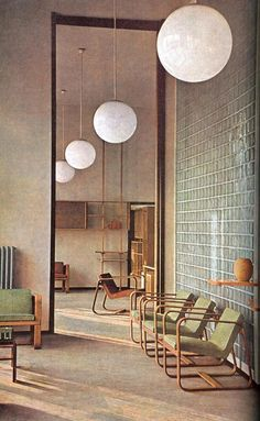 modistematters:  office interior and furniture by Giuseppe Pagano Pogatsching c.1942