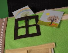 Dollhouse quiet book pages Bag for quiet book Front cover ...