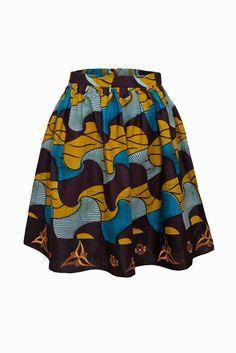 Flower skirt - Bot i Lam African Print Skirt, African Print Dresses, African Print Fashion, African Fabric, African Prints, African Clothes, African Dress, African Love, African Design