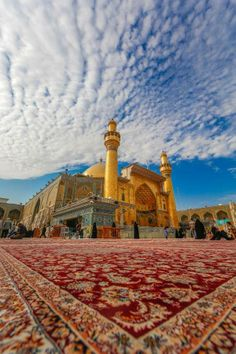 Karbala, the shrine of Imam Hussain مقام الامام الحسي next to the Mosque of…