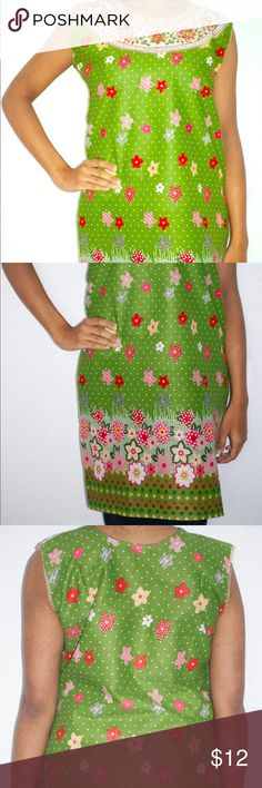 Green Sleeveless Kurta Tunic Top This floral printed kurta top in green is great for the spring weather! Available in size EU 34 approximately a size Medium in American sizing. New Without Tags. Package will include a pair of T shirt sleeves which may be stitched onto the shirt. Buyers will receive a free set of bangles to go with the top as my way of saying thank you for shopping with me! Tops Tunics