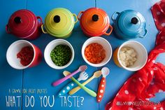 What Do You Taste? A Game for Picky Palates...via @shutterlily at www.mysmallpotatoes.com #tastetest #preschool #kindergarten #toddlers #activity #fun #vegetables #fruits