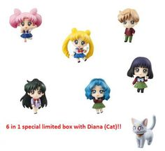 Sailor Moon Pretty Soldier Petit Chara Land: More School Life Limited Edition Mini-Figure Set - HobbyStuf
