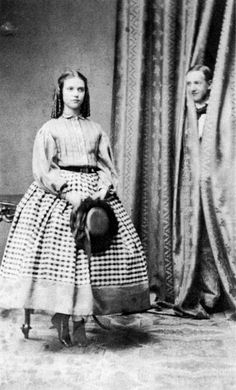 Young Princess Dagmar (later Maria Feodorovna) with her brother Prince William of Denmark (later King George I of Greece).