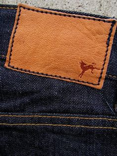 Love this Kicking Mule brand deer leather jeans patch