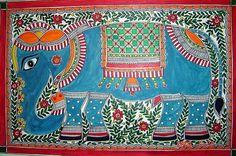 Indian Painting Styles...Madhubani/Mithila  Painting (Bihar)-madhubani-elephants1-16-.jpg
