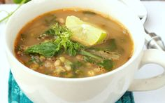 Sprouted Mung Bean and Spinach Soup Recipe