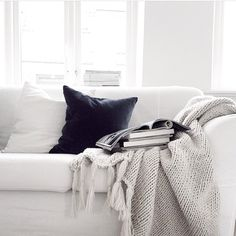 Simple dove white and black. Love it! http://furnish.co.nz/collections/soft-furnishings