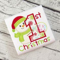 First Christmas Snowman Applique