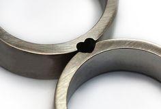 Heart wedding rings, gift ideas, Wedding ring set, Sterling silver band, Men wedding band, Gift for her,Men ring set,Promise rings,Love ring by CADIjewelry on Etsy https://www.etsy.com/listing/166180078/heart-wedding-rings-gift-ideas-wedding