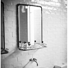 1000 images about salle de bain on pinterest hexagon - Miroir avec tablette salle de bain ...