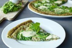 Spinazie pizza met pesto en mozzarella - Beaufood