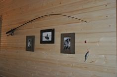 Cabin décor - Fishing Rod Picture hanger